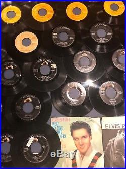 Lot of 98 Different ELVIS PRESLEY Vinyl 45 7 Records
