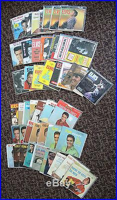 Lot of Elvis Presley 45s with Picture Sleeves 40 Singles and 7 EPs
