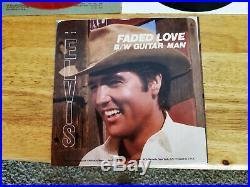 MINT RED VINYL PROMO Elvis Presley GUITAR MAN / GUITAR MAN JH-12158 & REGULAR