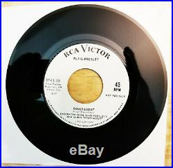 MINT WHITE LABEL PROMO Elvis Presley ROUSTABOUT / ONE TRACK HEART SP-45-139