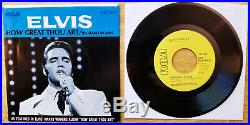 MINT YELLOW PROMO Elvis Presley HOW GREAT THOU ART/HIS HAND IN MINE 74-0130