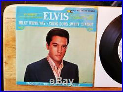 NEAR PERFECT 1s / 1s PROMO PACKAGE! Elvis Presley MILKY WHITE WAY 447-0652