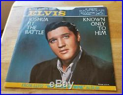 NEAR PERFECT PICTURE SLEEVE! Elvis Presley JOSHUA FIT THE BATTLE 447-0651