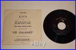 NM Elvis Presley Kid Gallahad 7 SP-45-118 RCA PROMO DJ Preview Special withPS