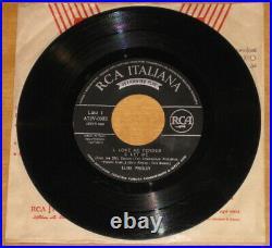 ONE OFF Elvis unique Italy triple EP Box Dec-1956 with RCA vacuum phonograph