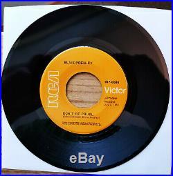 ORANGE & SILVER LINED Elvis Presley HOUND DOG/DON'T BE CRUEL 47-6604/447-0608