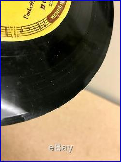 ORIGINAL 1955 SUN 217 ELVIS PRESLEY Baby Let's Play House 45 with PUSH MARKS