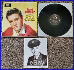 ORIGINAL 1958 MINT LPM-1884 Elvis Presley KING CREOLE with BONUS ARMY PHOTO