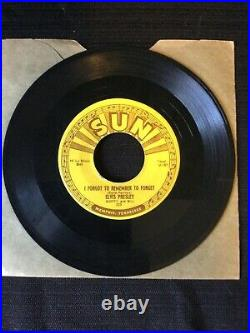 ORIGINAL / Rockabilly 45 / ELVIS PRESLEY / SUN 223 / Mystery Train / I Forgot