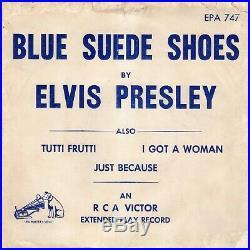 (ORIGINAL Temp. Paper envelope) Elvis Presley RCA Victor EPA-747 1956 Rockabilly