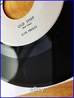ORIGINAL VG+ ULTRA-RARE ONE SIDED PROMO 1956 Elvis Presley OLD SHEP CR-15