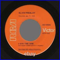 Orange GSS Elvis Presley Heartbreak Hotel /I Was The One RCA Victor 447-0604