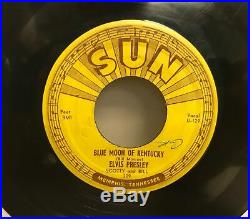 Orig Elvis Presley Sun 209 That's All Right /Blue moon of Kentucky Push Marks VG