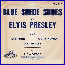 (Orig P. D. Credits 45 & Temp. Paper env) Elvis Presley RCA Victor EPA-747 1956