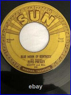 Orig Sun 45 Sun 209 Thats Alright/blue Moon Of Kentucky. Fabulous Condition