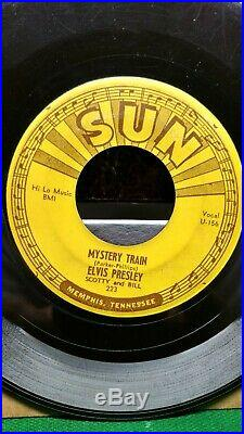 Original 1955 Elvis Presley Sun Label 223 45 RPM Mystery Train Vg No Reserve