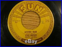 Original 1955 Sun Record #223 45 RPM Elvis Presley Mystery Train Vg
