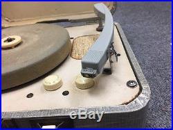 Original Elvis Presley RCA Victor Victrola Portable Record Player 1956 Broken