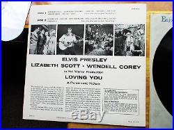 Original Near mint Package Elvis Presley Loving You LPM-1515 Rare label