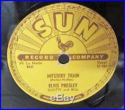 Original Sun #223 78 Record Elvis Presley Mystery Train Rare Rockabilly