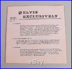 Original TV GUIDE PRESENTS ELVIS PRESLEY G8MW-8705 Most Sought After Recording