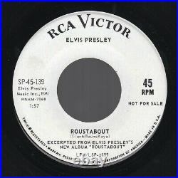 PROMO ONLY Elvis Presley Roustabout /One Track Heart RCA Victor SP-45-139 1964