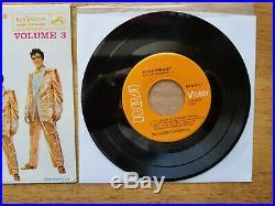 RARE 99% MINT 1s/1s ORANGE LABEL Elvis Presley A TOUCH OF GOLD VOL. 3 EPA-5141