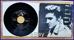 RARE 99% MINT DON'T BE CRUEL PICTURE SLEEVE Silver Line Elvis Presley 47-6604