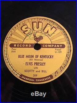 Rare Elvis Presley 1954 Original 78 RPM That's All Right Sun 209 First Record