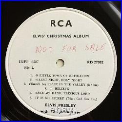 RARE ELVIS PRESLEY 1957 Christmas Album NM UK WHITE LABEL TEST PRESSING RCA