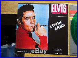 RARE MINT GREEN Vinyl Elvis Presley LOVIN'ARMS JB-12205 withRARE Picture Sleeve