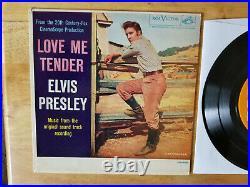 RARE NEAR MINT 1968 ORANGE LABEL Elvis Presley LOVE ME TENDER EPA-4006