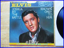 RARE NEAR MINT White Label promo Elvis Presley Joshua Fit The Battle 447-0651