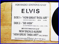 RARE NRMT Promo Elvis Presley How Great Thou Art / So High with P/S SP-45-162