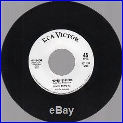 (RARE PROMO EX) Elvis Presley Such A Night/Never Ending RCA 47-8400 1964