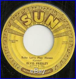 RARE ROCKABILLY 45 by ELVIS PRESLEY on SUN 217 HEAR IT