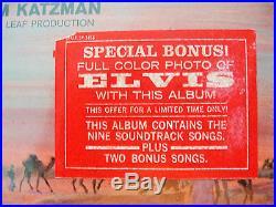 RELIST! Orig Factory Sealed Elvis Presley Harum Scarum Sticker/Photo LPM-3468
