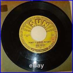 ROCKABILLY 45 RPM RECORD ELVIS PRESLEY SUN 223 MYSTERY TRAIN LISTEN
