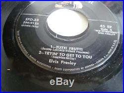Rare 1956 Elvis Presley 3 record set SPD-23 RCA Victor