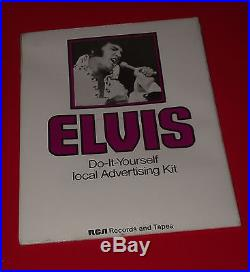Rare 1970S ELVIS PRESLEY RCA RECORDS DO IT YOURSELF ADVERTISING PROMO KIT sealed