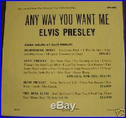 Rare Elvis Presley Epa-965, Orange Label Record, Exc