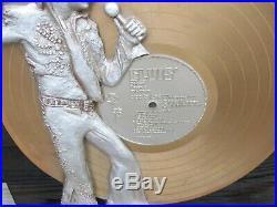 Rare Elvis Presley Music Record Store Display Golden Records Vol. 1 Resin Figure