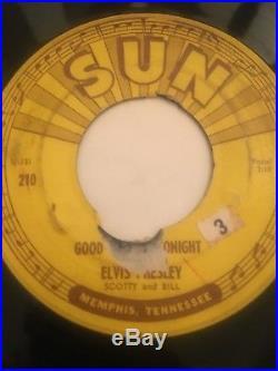 Rare Original Rockabilly Sun 45/ Elvis Presley Good Rockin Tonight Hear