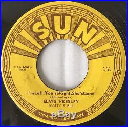 SUN 217 Elvis Presley Baby Let's Play House / Left Right Gone 45 VG DELTA PRESS