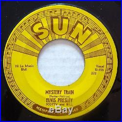 SUN 223 Elvis Presley orig RARE Rockabilly 45 Excellent+ Mystery Train