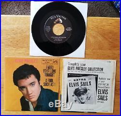 SUPER WOW! BOTH PIC SLEEVES Elvis Presley I NEED YOUR LOVE TONIGHT 47-7506