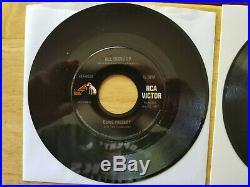 SUPER WOW! MINT PROMO & REGULAR Elvis Presley GSS ALL SHOOK UP 447-0618 withPS