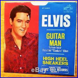 SUPER WOW! MINT YELLOW LABEL PROMO Elvis Presley GUITAR MAN 47-9425