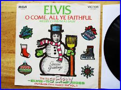 SUPER WOW! MINT YELLOW LABEL PROMO Elvis Presley MERRY CHRISTMAS BABY 74-0572