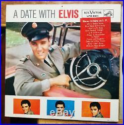 SUPER WOW! ORIGINAL Elvis Presley A DATE WITH ELVIS LPM-2011 1s / 1s